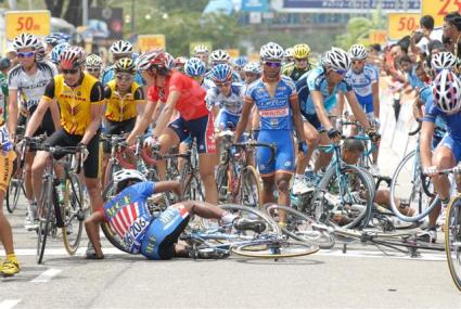 Le Tour de Langkawi 2008 Stage 7 crash
