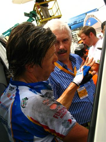 LTdL 2008 Danilo Hondo injured