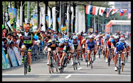 Tour de Taiwan 2008 Stage 4 Finish Taichung City; Polish Krzystof wins
