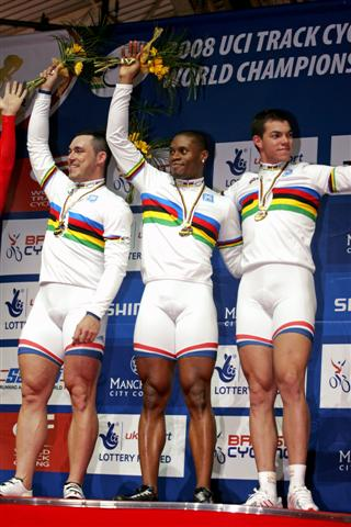 World Track Cycling France Win Team Sprint Great Britain 2nd