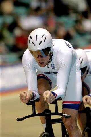 Great Britain Team Pursuit, lead by Olympic Champion Bradley Wiggins