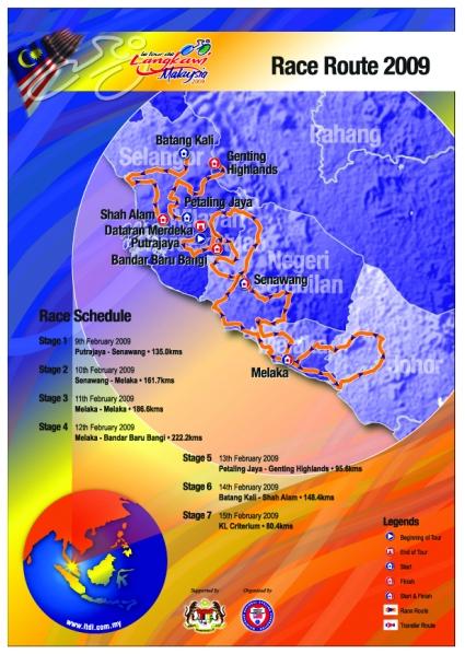 Le Tour de Langkawi 2009 route